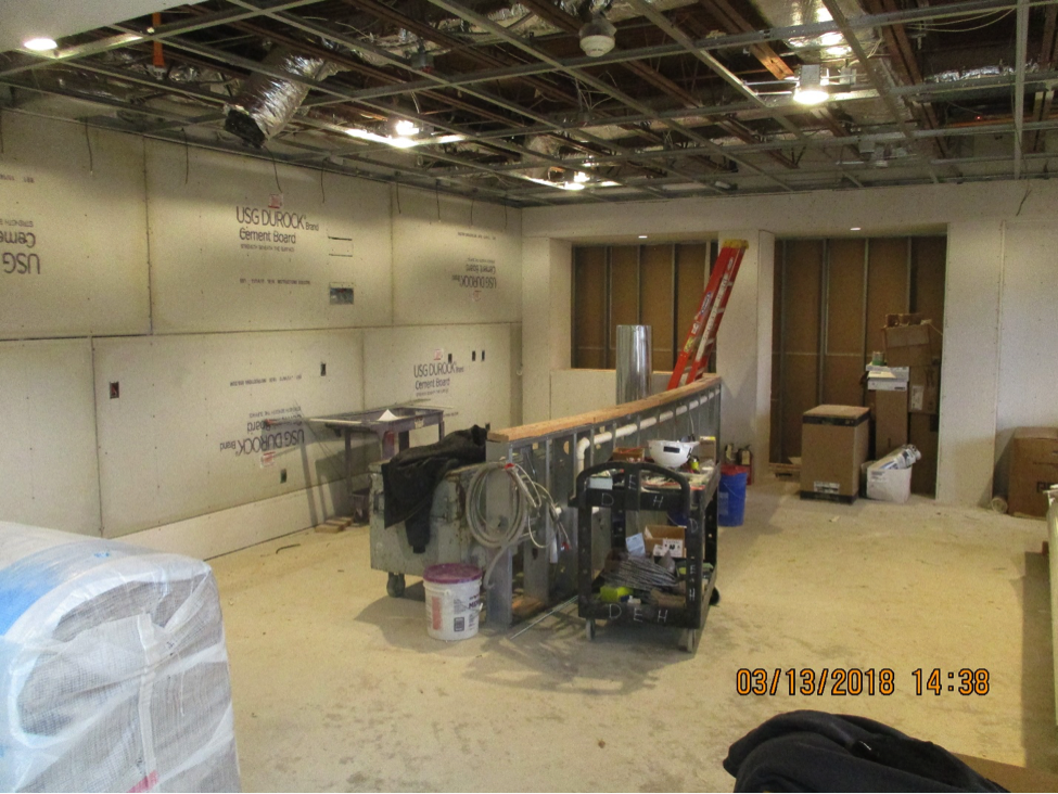 Construction progress for the clubhouse