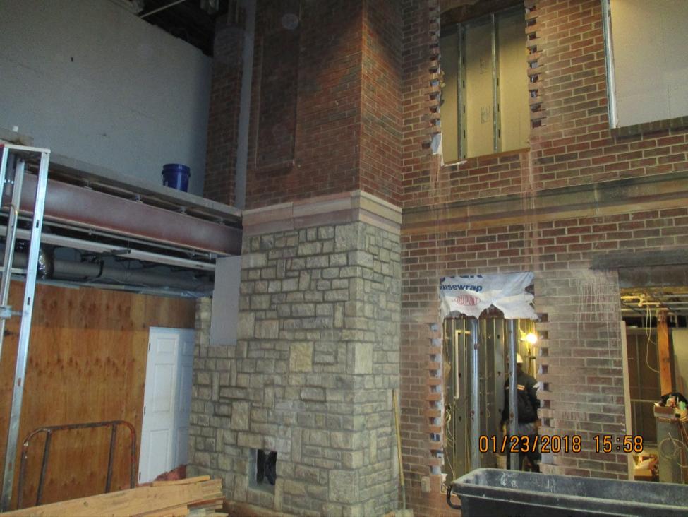 Construction in main lobby