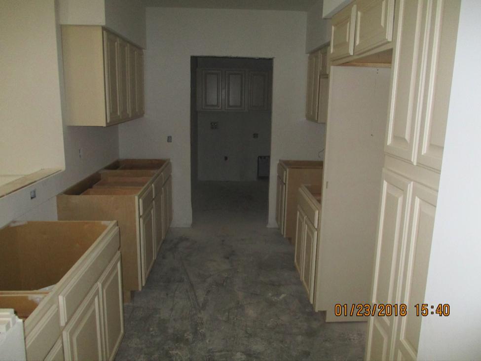 Future Riverstone Apartment kitchen under construction