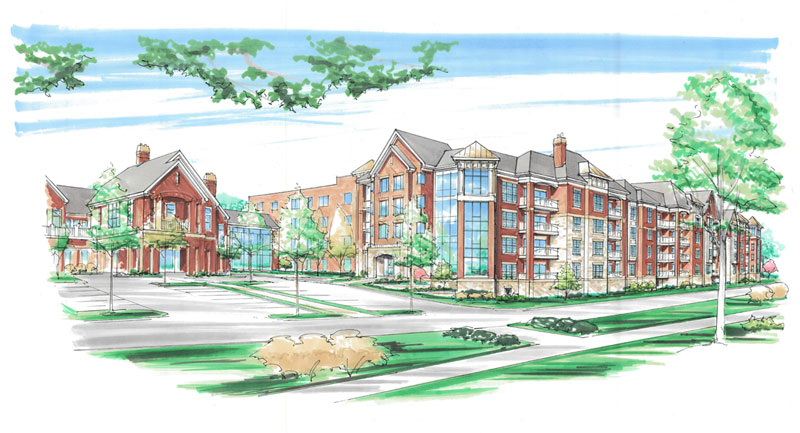 Sketch of Friendship Village of Dublin's future expansion