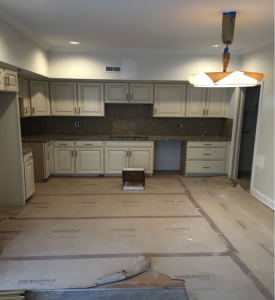 Kitchen construction in the Flats