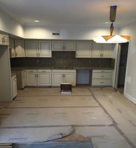 Flat kitchen under construction