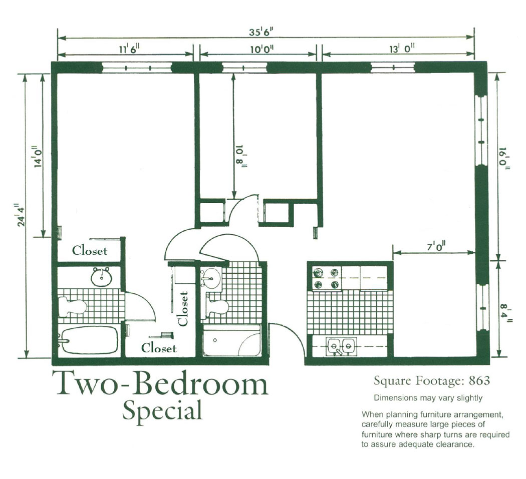 Friendship Village Dublin apartment homes – Two-Bedroom Special