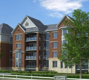 Outside view of Riverstone Apartments