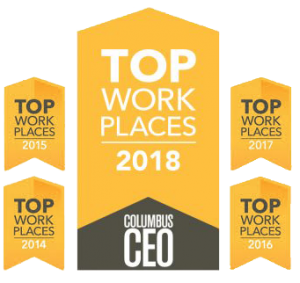 Columbus CEO Top Work Places Award Graphics