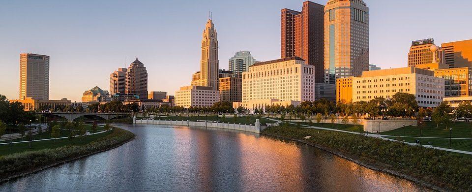 Columbus city skyline