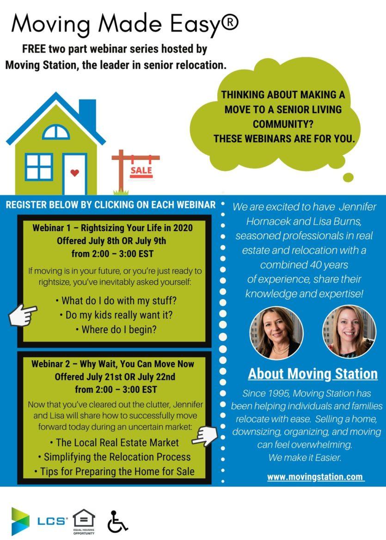 Moving Station webinars resizing real estate