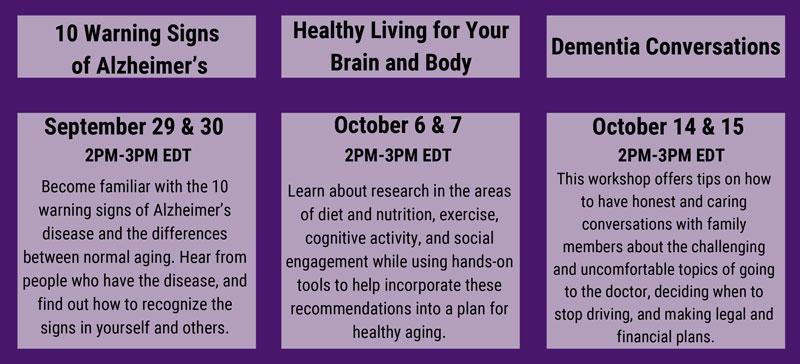 Details on Alzheimer's Association Webinars