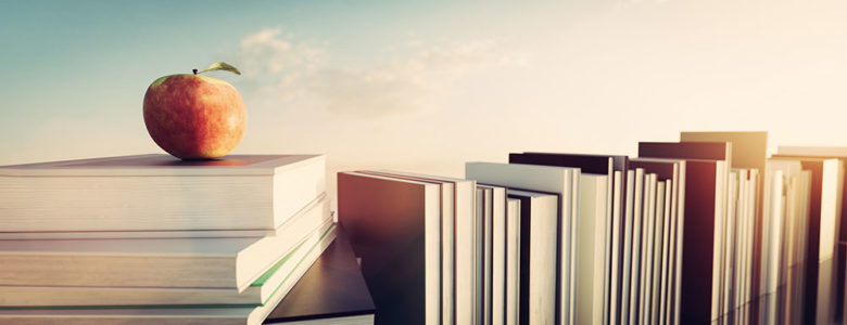 Apple on books illustrates lifelong learning
