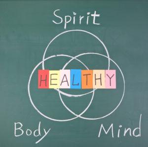 graphic healthy mind body spirit