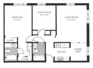 floorplan for inverness senior living apartment in dublin ohio