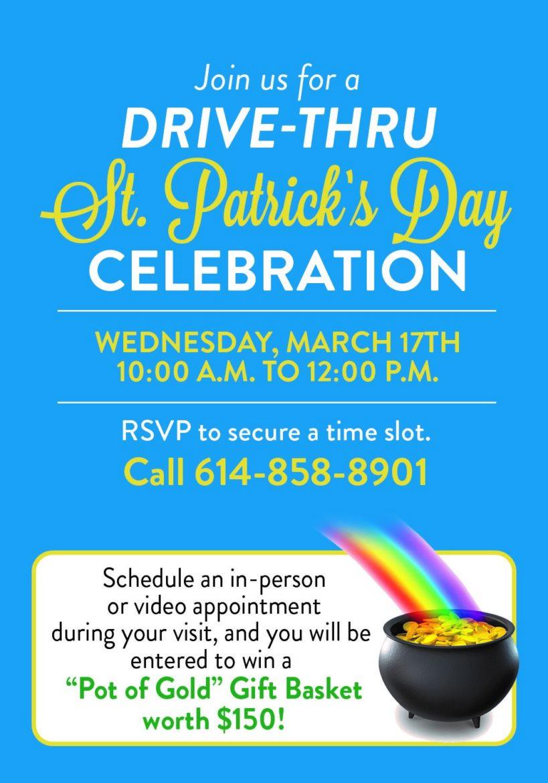 RSVP details for St. Patrick's Day Celebration