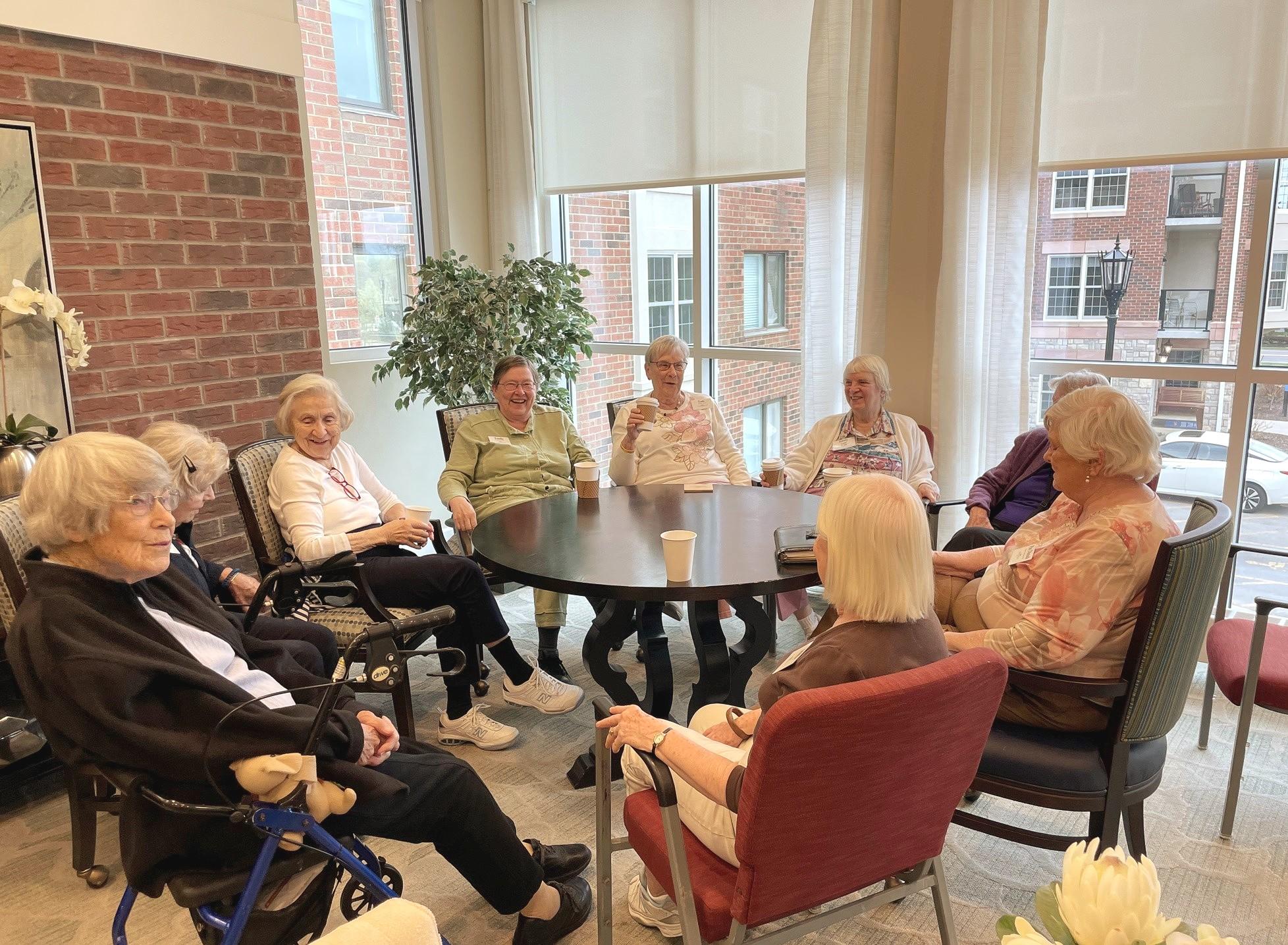 Friendship Village of Dublin residents gather for Coffee Klatch