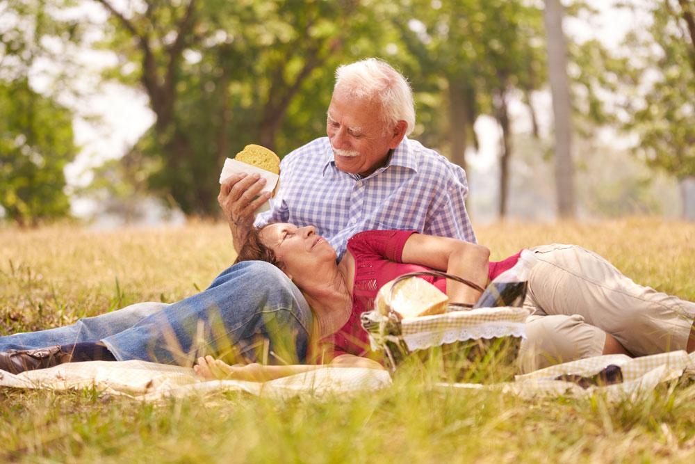 Latin American couple on a picnic