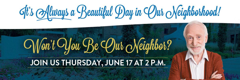 Graphic invitation to June 17th Meet the Neighbors webinar