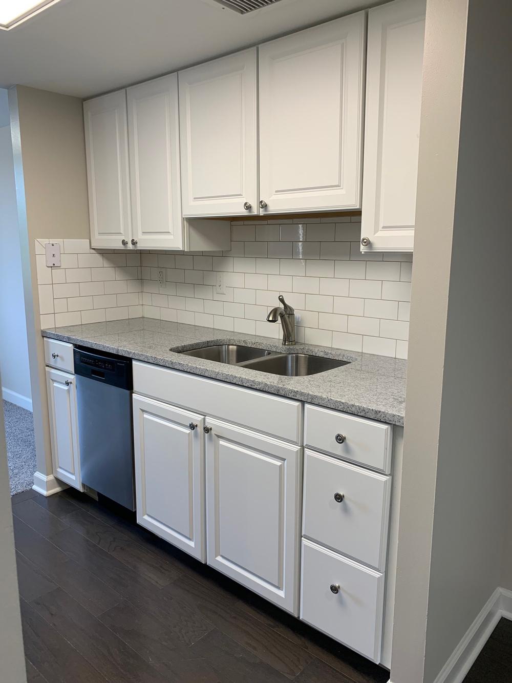 walk-through kitchen in The Brennan independent living apartment