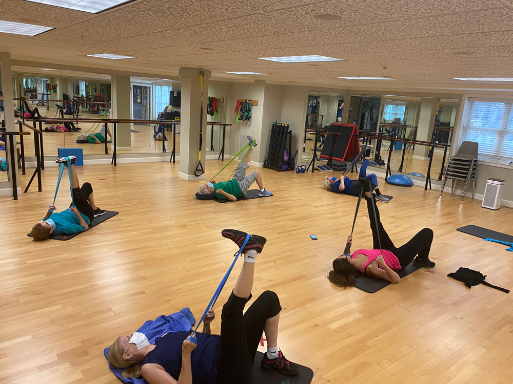 Group fitness class at Friendship Village of Dublin