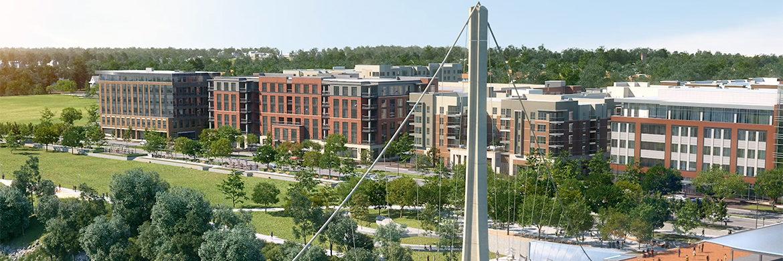 View of Bridge Park in Dublin, Ohio