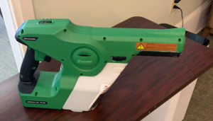 Electrostatic sprayers dispense support a healthy senior living environment