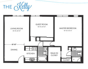 The Kelly Independent Living Apartment Floor Plan