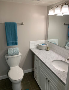 Guest bathroom in The Kelly Independent Living Apartment
