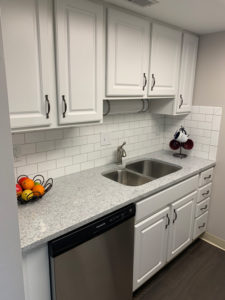 Kitchen in The Kelly Independent Living Apartment